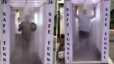 Hyderabad Gets 'Disinfectant Tunnel' Amid COVID-19 Outbreak, Installed Outside DGP Office (Watch Video)