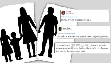 What is The Hindi Word For Divorce? Twitter Thread Tells What Its Called in Other Indian Languages