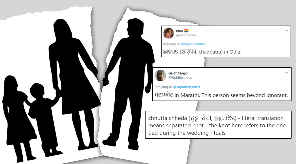 What is The Hindi Word For Divorce? This Twitter Thread Will Tell You What Marital Separation is Called in Different Indian Languages From Gujarati to Marathi