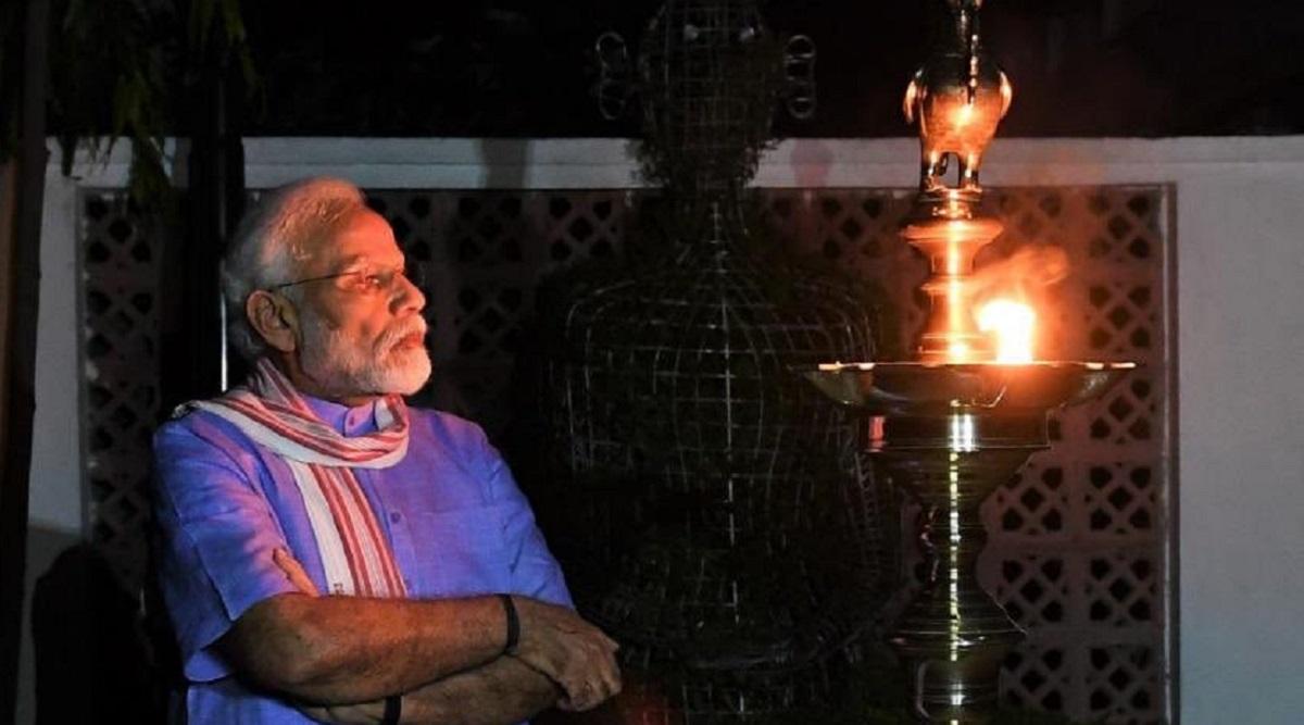 people light candles  diyas on pm narendra modi u0026 39 s appeal
