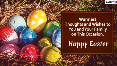 Happy Easter 2020 Images With Quotes for Family: WhatsApp Stickers, Facebook Greetings, SMS, Wishes and Messages to Celebrate Resurrection Sunday