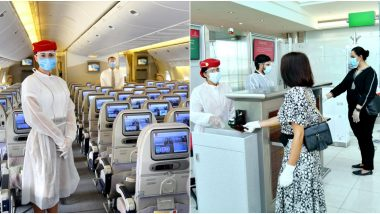Emirates Updates Safety Measures: From Change in Uniforms to Distance Indicators, Here's How The Airlines Have Adapted Precautions Amid Coronavirus Outbreak