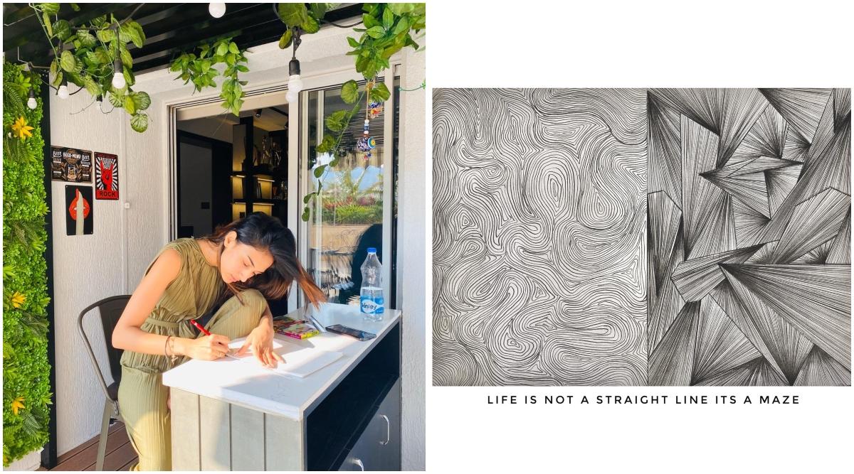 Erica Fernandes Awakens Her Inner Artist, Says 'Drawing Keeps Me Calm and Focused'
