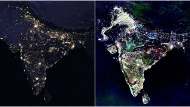 'Fake' NASA Satellite Images of India During 'Diwali' Go Viral Following PM Modi's Successful #9PM9Minutes Initiative on April 5