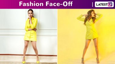 Fashion Face-Off: Kriti Kharbanda or Amruta Khanvilkar in a Neon Yellow Blazer Dress by Nayantaara? Who Wore It Better?