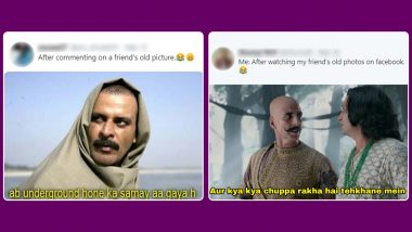 Home Quarantine Trend! Netizens Dig Up Embarrassing Old Facebook Photos of Their Friends With Hilarious Shayari in Comments, People React With Funny Memes and Jokes