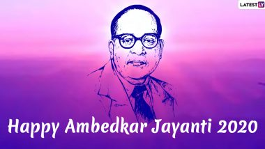Ambedkar Jayanti 2020 HD Images With Marathi Text Messages: 129th Bhim Jayanti HD Banner, SMS, WhatsApp Stickers and Quotes to Wish Ambedkar Jayanti Shubhechha