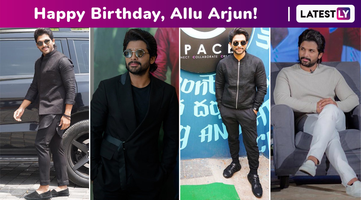 Happy Birthday, Allu Arjun! A Fabulously Crafted Fashion Sorcery With Monochrome Is Why We Love Your Simple but Always Significant Style!