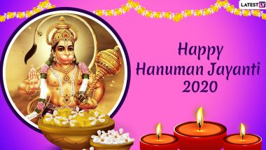 Hanuman Jayanti 2020 Greetings: WhatsApp Stickers, Facebook Messages, HD Images and Wishes to Send on Hindu Festival Celebrating Lord Hanuman's Birth