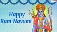 Happy Rama Navami 2020 Greetings and HD Images: WhatsApp Stickers, GIFs, Facebook Photos and Messages to Send Wishes of Shri Ram Navmi
