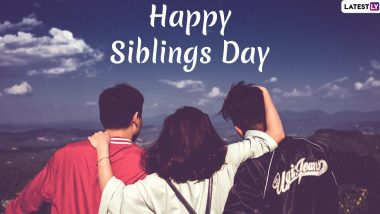 National Siblings Day 2020 Greetings For Brothers: WhatsApp Stickers, Facebook Greetings, GIF Images, SMS and Messages to Send Your Partner in Crime!