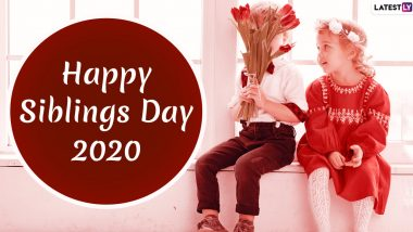 National Siblings Day Images & HD Wallpapers For Free Download Online: Wish Happy Siblings Day 2020 With WhatsApp Stickers and GIF Greetings