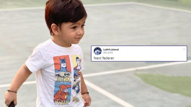 Next Roger Federer? Sania Mirza Shares Adorable Picture of Son Izhaan Holding Racket; Twitterati Wonder if He Too Will Become a Tennis Player