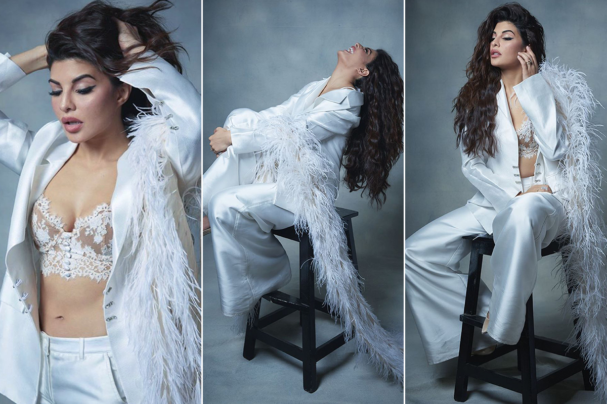 Jacqueline Fernandez is Ivory Chic for a photoshoot