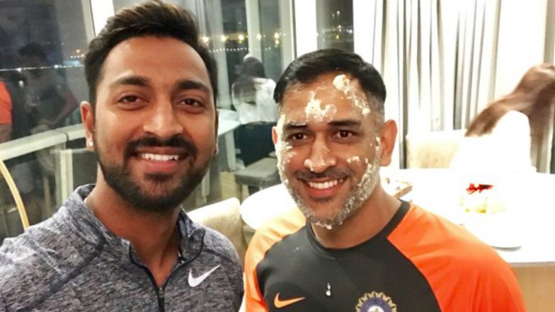 MS Dhoni Is Very Down to Earth, a Legend and a Role Model, Says Mumbai Indians All-Rounder Krunal Pandya During Q&A Session on Twitter