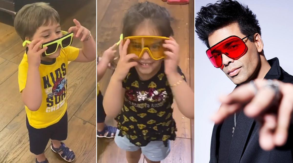 Karan Johar's Kids Yash and Roohi Throw A 'Stupid' Shade On Dadda's Sunglasses Game (Watch Video)