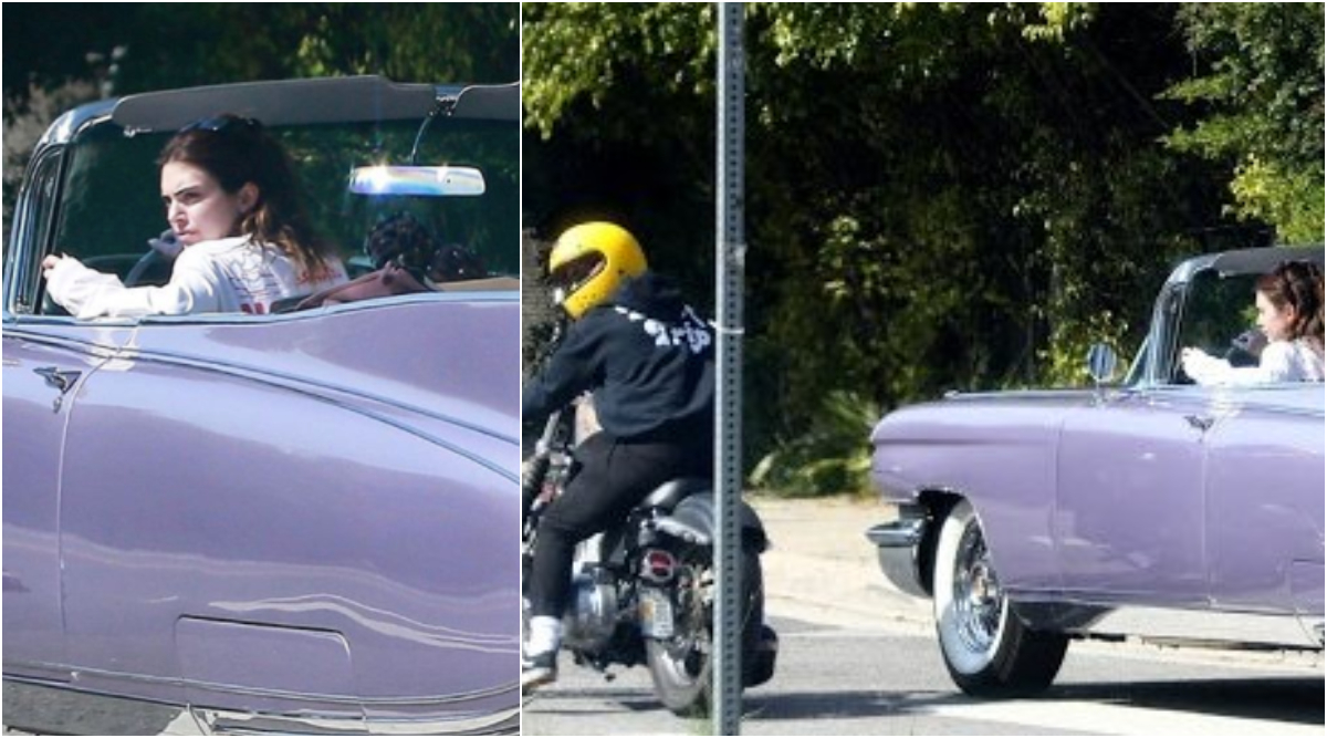 Kendall Jenner Goes for a Drive in Her Cadillac With Ex-Boyfriend Harry Styles Riding a Bike Beside Her and We Wonder What's Cooking!