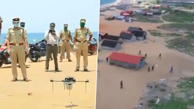 Kerala Police Share Footage of COVID-19 Lockdown Violators Shot on Spy Drone With 'Tracer Bullet' Challenge Commentaries, Watch Hilarious Video