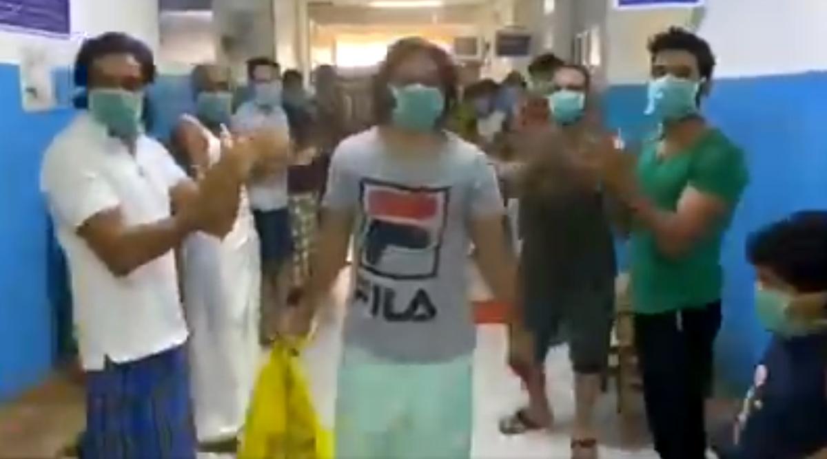 Coronavirus Survivor in Kerala Cheered by Kasargod Hospital Staff and Patients on His Discharge, Watch Heartwarming Video