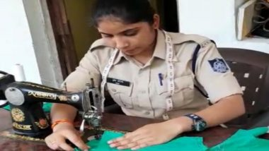 Madhya Pradesh Lady Police Constable Shrishti Shrotriya Sews Face Masks for the Unprivileged After Duty Amid Coronavirus Outbreak