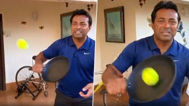 Leander Paes Clubs Video of Him and Mahesh Bhupathi Playing Tennis With Frying Pan, Shares on Social Media