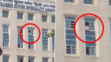 Nizamuddin Markaz Attendee Attempts Suicide, Tries to Jump From 6th Floor of Delhi Hospital (Watch Video)