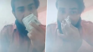 Nashik Man Arrested For Wiping Nose And Mouth With Currency Notes Amid Coronavirus Outbreak - Video