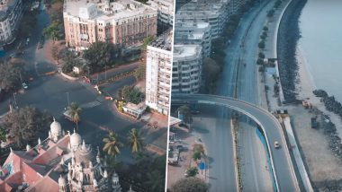 Mumbai During Lockdown: From Marine Drive to Shivaji Park, This Drone Shoot Captures The Silent Beauty of Maximum City (Watch Video)