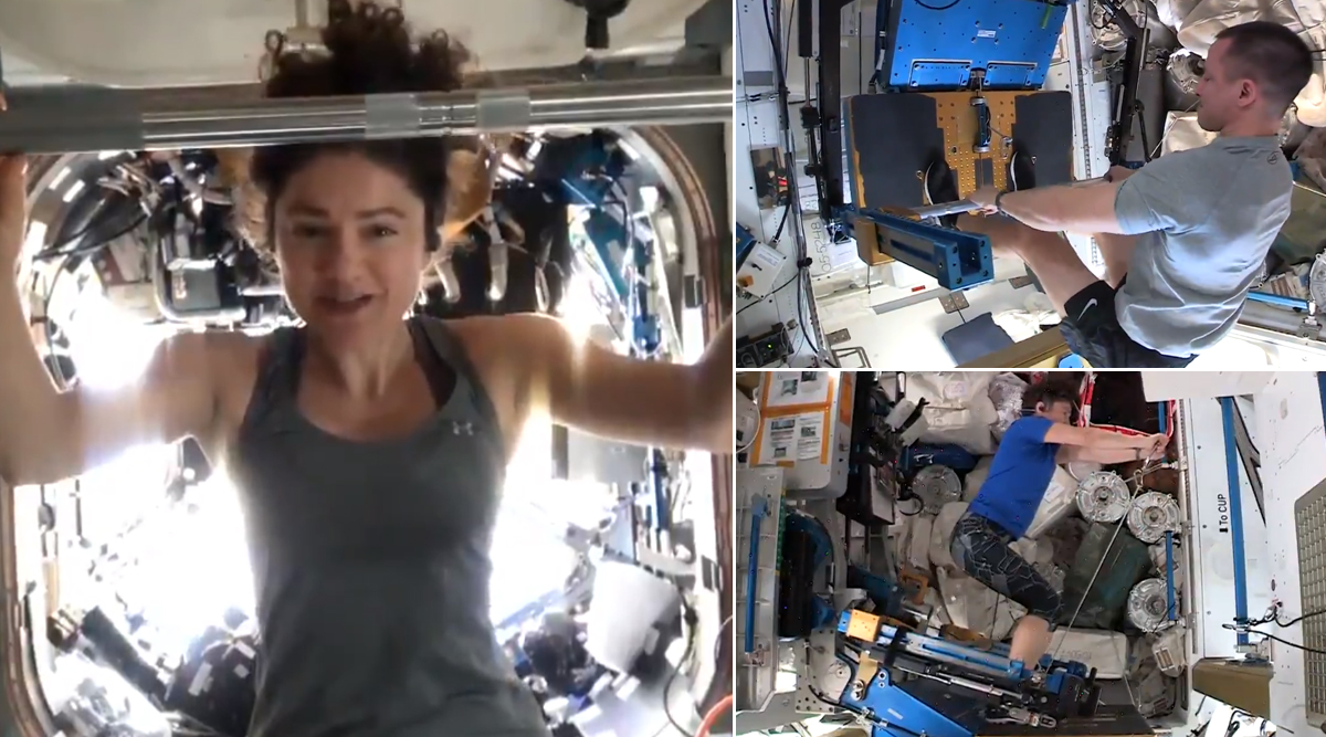NASA Astronauts Share Workout Routine, Gives Tips to People on Earth Living in Quarantine During Coronavirus Pandemic (Watch Video)