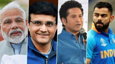 COVID-19: Narendra Modi to Speak to Sourav Ganguly, Sachin Tendulkar, Virat Kohli & Virender Sehwag Among Others to Reach Masses as Country Fights Coronavirus Pandemic