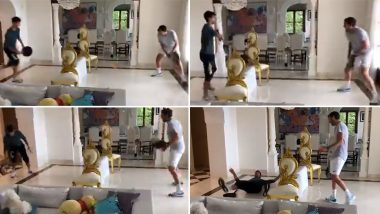 Novak Djokovic Plays Tennis Using Frying Pan During Self-Quarantine (Watch Funny Video)
