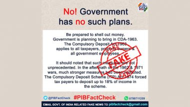 Government to Bring Act to Have 18% Income Deposited by All Tax Payers? PIB Fact Check Dismisses Fake WhatsApp Message