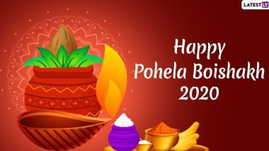 Happy Pohela Boishakh 2020 Wishes & Subho Noboborsho 1427 Images : WhatsApp Stickers, Facebook Greetings, SMS, GIFs & Messages to Send on Bengali New Year