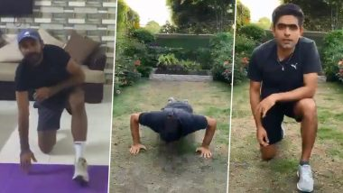 Azhar Ali Initiates Push-Up Challenge While in Self-Quarantine, Babar Azam, Sarfaraz Ahmed, Wahab Riaz Nail the Fitness Drill (Watch Videos)