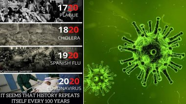 Pic With 'History Repeats Every 100 Years' Message Citing 1720 Plague, 1820 Cholera, 1920 Spanish Flu and 2020 Coronavirus is Going Viral, Know More About These Pandemics
