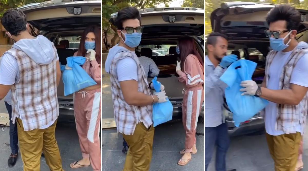 Bigg Boss 13's Paras Chhabra and Mahira Sharma Do Their Bit, Distribute Food Among Needy During the COVID-19 Crisis (Watch Video)
