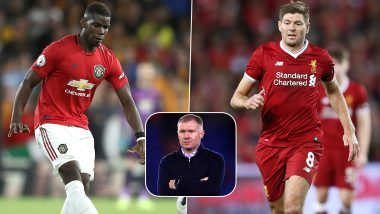 Paul Scholes Likens Manchester United Midfielder Paul Pogba to Liverpool Legend Steven Gerrard, Says 'He Can Do Everything as a Midfield Player'