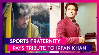 Irrfan Khan Demise: Sports Fraternity Pays Tribute To Actor Extraordinaire