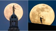 April Super Pink Moon 2020 Photos and Videos: Stunning Shots of Year's Biggest and Brightest Supermoon Will Make Every Selenophile Say 'WOAH'