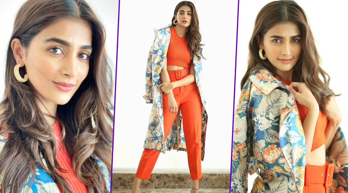 Pooja Hegde Channels a Tangy Tangerine and an Abundance of Floral Vibe, This Is How She Rolls in Spring!