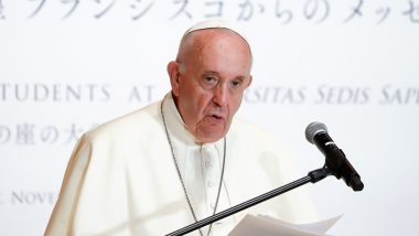 China Criticises Pope Francis Over Comment on Uighur Muslim Minority