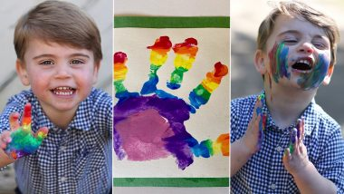 Prince Louis Turns 2! Prince William and Kate Middleton Release Adorable Birthday Pictures of Their Son and His Rainbow Artwork