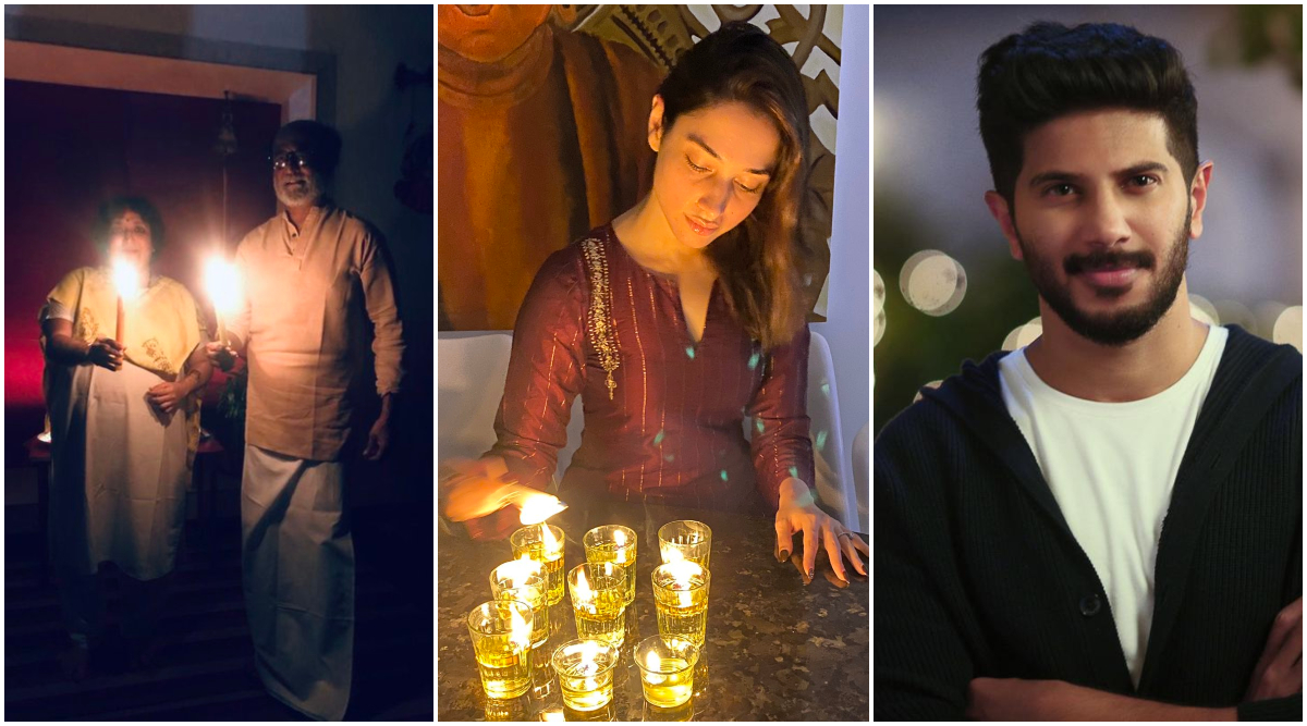 Rajinikanth, Tamannaah Bhatia, Dulquer Salmaan and More South Celebs Light Candles Supporting PM Modi's '9 PM, 9 Minutes Appeal' (View Posts)