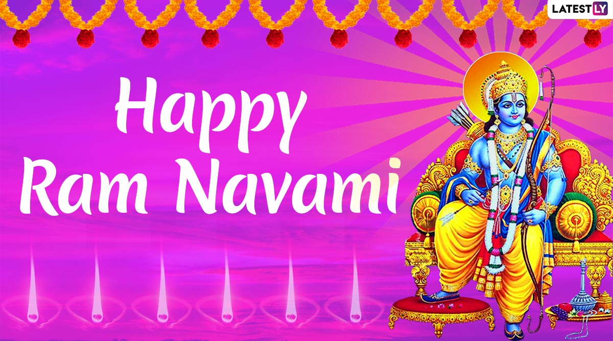 Happy Rama Navami 2020 HD Images & Wallpapers For Free Download Online: Celebrate Hindu Festival With Shri Ram HD Photos, WhatsApp Stickers and GIF Greetings!