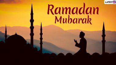 Ramadan Mubarak Images & Ramzan Chand Raat Mubarak HD Wallpapers for Free Download Online: Wish Happy Ramadan Kareem 2020 With WhatsApp Stickers and GIF Greetings