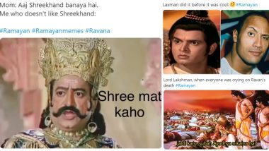 Ramayan Funny Memes: Lakshman's Witty Reply, Shri Rama and Hanuman's Spectacular Chemistry and Ravana's Laughter Makes Doordarshan TV Show a Big Hit Among Netizens