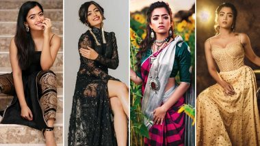 Rashmika Mandanna Birthday: From Sartorial Choices to Trendy Hairdos, This South Beauty's Insta Pics Will Give You A Sneak Peek Of Her Chic Style Statements!
