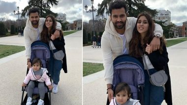 Rohit Sharma Misses Wife Ritika and Daughter Samaira on Christmas 2020, Shares Adorable Picture on Instagram