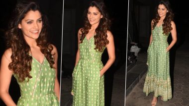 Saiyami Kher Is Springtime Chic in a Lush Green Pretty Patterned Global Desi Jumpsuit!