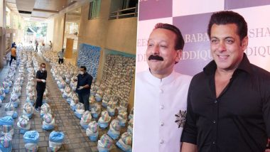 Salman Khan Lauds Baba Siddique and His Son Zeeshan's Efforts of Feeding 1,25,000 Families During Lockdown (View Tweet)